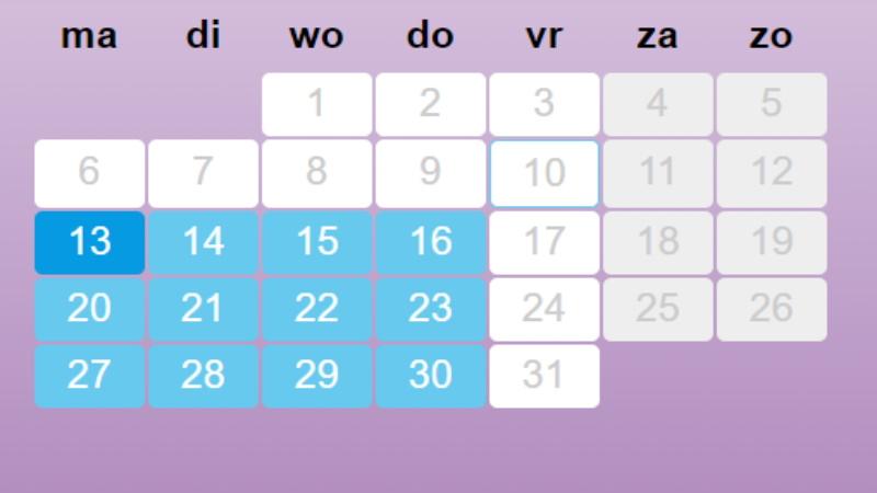 Afsprakenkalender